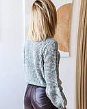 Женская теплая кофта свитер нить марс размер универсал 42-46, фото 3