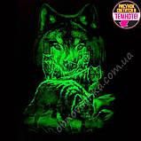 "Мужская светящаяся футболка ""Волки"" размер XL, фото 2"