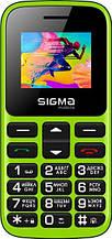 Телефон кнопочный для бабушки на 2 сим карты с фонариком Sigma Comfort 50 HIT 2020 зеленый