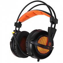 Навушники Sades A6 7.1 Virtual Surround Sound Black/Orange