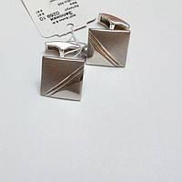Серебряные мужские запонки Ник, фото 1