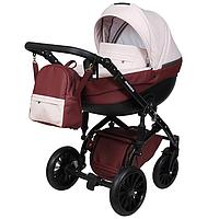 Детская универсальная коляска 2 в 1 Angelina Amadeo AT-3 Бордовый
