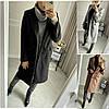 Р 42-54 Двубортное кашемировое пальто средней длины Батал 22756-1