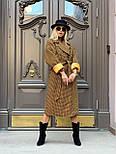Жіноче довге пальто утеплене зі шліцом та двома кишенями під пояс (р. 42-46) 5802300, фото 4