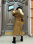 Жіноче довге пальто утеплене зі шліцом та двома кишенями під пояс (р. 42-46) 5802300, фото 2