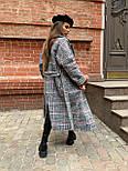 Жіноче довге пальто утеплене зі шліцом та двома кишенями під пояс (р. 42-46) 5802300, фото 3