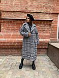Жіноче довге пальто утеплене зі шліцом та двома кишенями під пояс (р. 42-46) 5802300, фото 5