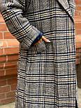 Жіноче довге пальто утеплене зі шліцом та двома кишенями під пояс (р. 42-46) 5802300, фото 6