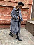Жіноче довге пальто утеплене зі шліцом та двома кишенями під пояс (р. 42-46) 5802300, фото 9