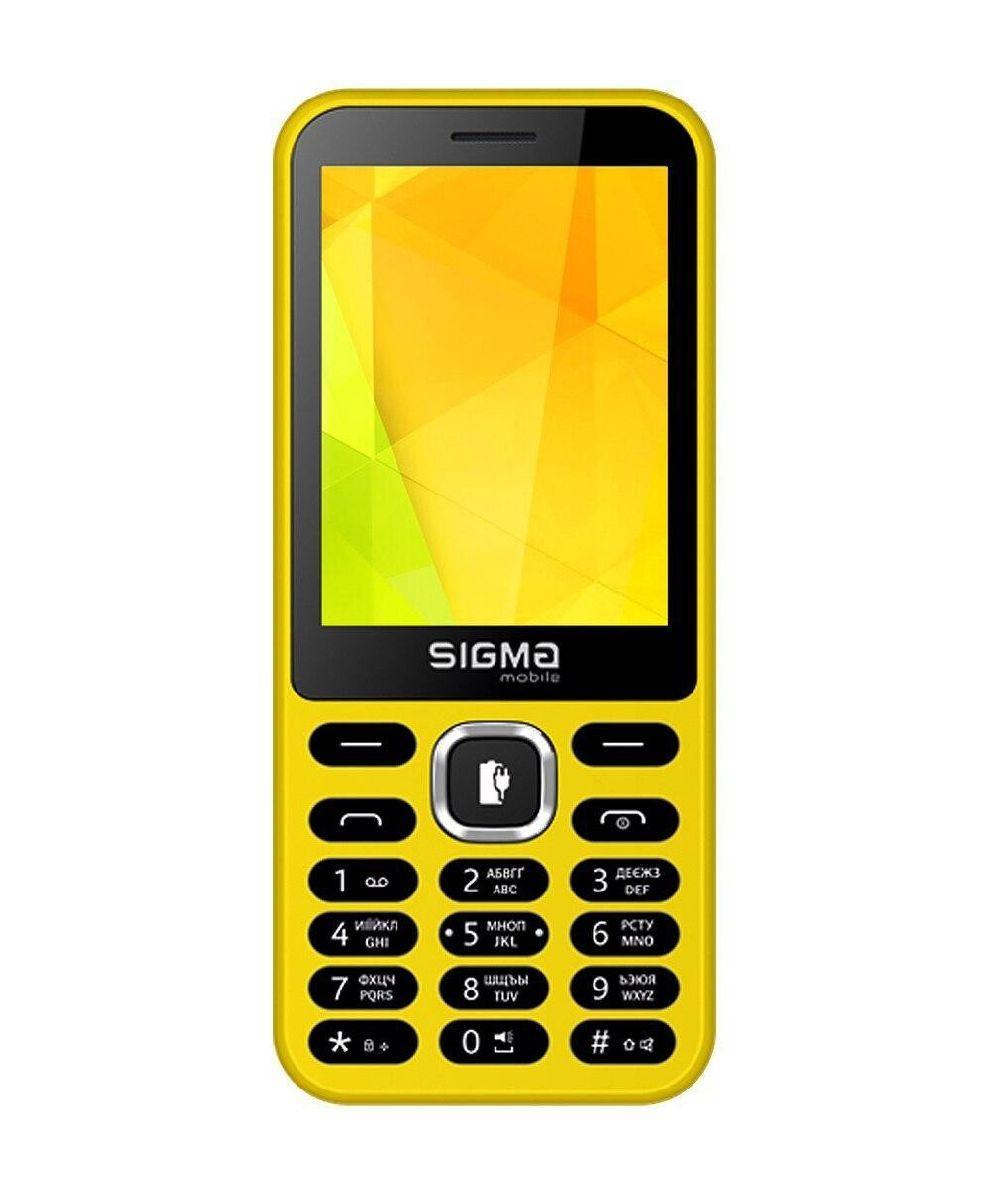 Телефон кнопочный с большим экраном мощной батареей и функцией PowerBank желтый