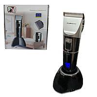 Аккумуляторная машинка для стрижки волос Promotec PM-362 с 4 насадками / Беспроводной триммер