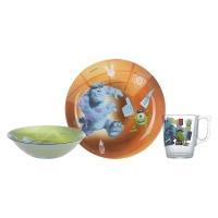 Набор посуды для детей LUMINARC DISNEY MONSTERS /НАБОР/3 пр.короб (P9261)