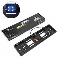 Камера заднего вида с держателем для номера CAR CAM. JX 9488A / Обзор 170 градусов