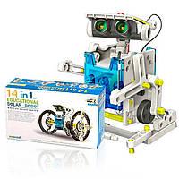 Конструктор робот на солнечных батареях Solar Robot 14 в 1 / Игрушка робот для ребенка