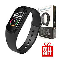 Смарт часы Xiaomi Mi Band M4 / Фитнес-браслет для спорта / Трекер + ПОДАРОК FREE!