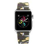 Ремінець для годинника Apple Watch 42 мм 44 мм силіконовий з пряжкою, Camouflage with yellow, фото 2
