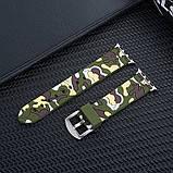 Ремінець для годинника Apple Watch 42 мм 44 мм силіконовий з пряжкою, Camouflage with yellow, фото 5