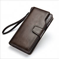 Кожаный мужской кошелек Baellerry Business Коричневый