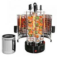 Электрошашлычница Domotec BBQ 1000 Вт на 6 шампуров (нержавейка) / Электромангал