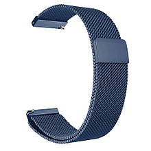 Amazfit Bip / Amazfit GTS Металевий магнітний ремінець для смарт годин, Blue, ширина - 20 мм.
