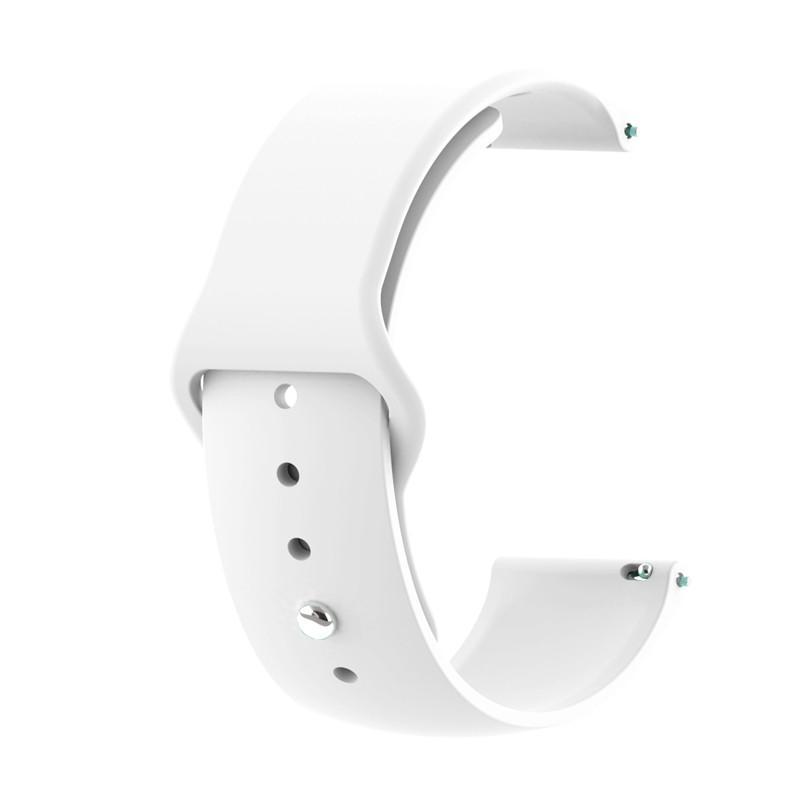 Amazfit Bip / GTS Ремінець для смарт годин c застібкою-кнопки, White, ширина - 20 мм.