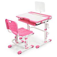 Парта ученическая детская Bambi M 3111(2)-8 Розовый | Комплект растущая парта и стул