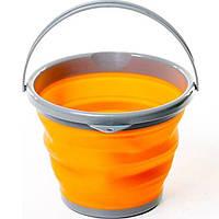 Складное ведро Silicon Bucket 10л. Оранжевое