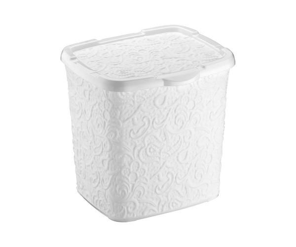 Контейнер для стирального порошка Elif Plastic, 23*20*23 см (белый)