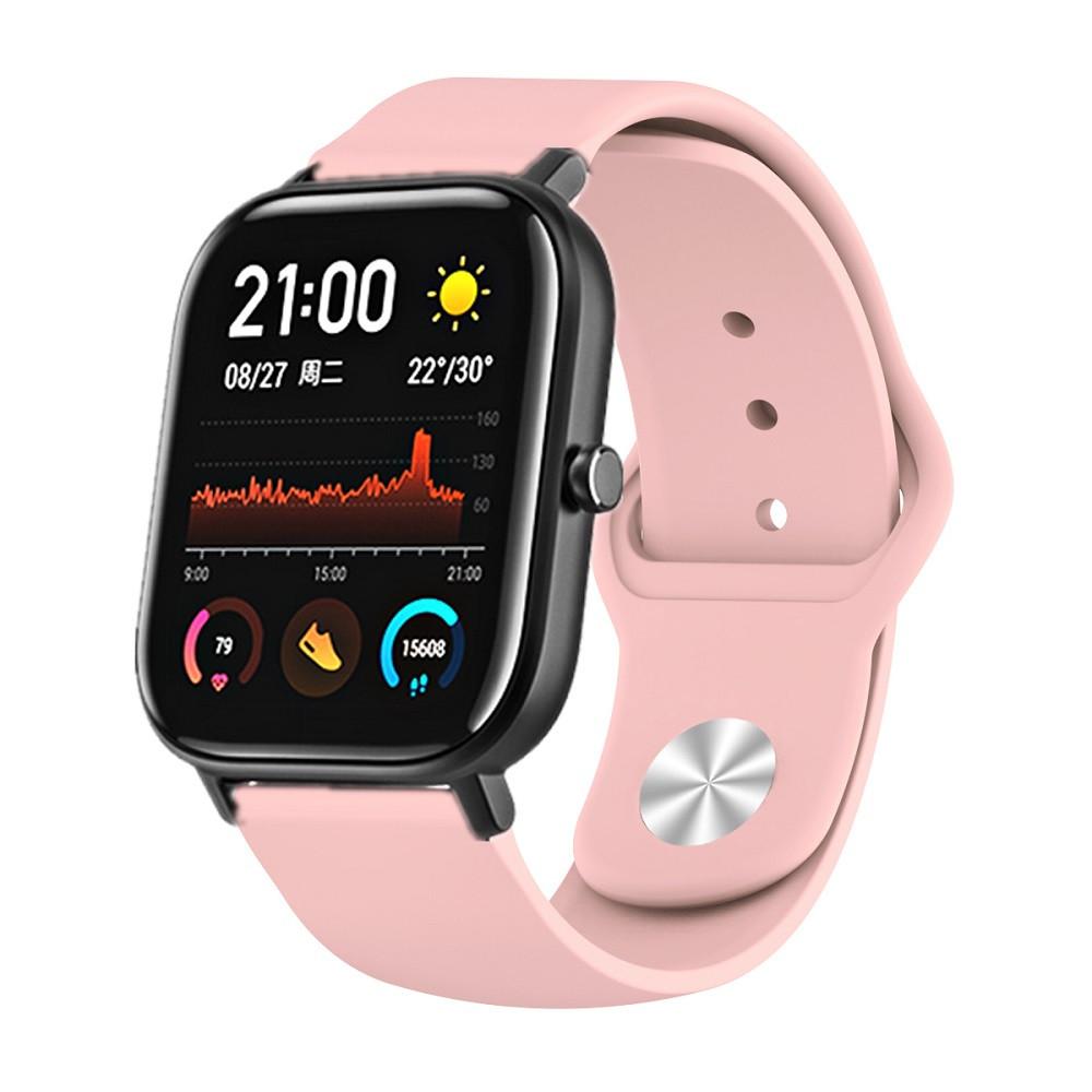 Amazfit Bip / GTS Ремінець для смарт годин c застібкою-кнопки, Pale pink, ширина - 20 мм.