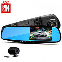 Зеркало видеорегистратор Vehicle Blackbox DVR / Зеркало заднего вида + Наушники в Подарок FREE