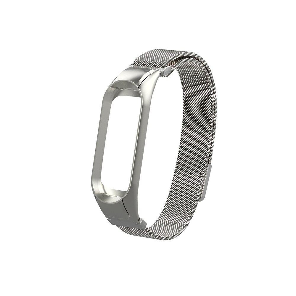 Ремінець для фітнес браслета Xiaomi Mi Band 3 і 4, Milanese design bracelet, Silver
