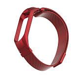 Ремешок для фитнес браслета Xiaomi Mi Band 3 и 4, Milanese design bracelet, Red, фото 2