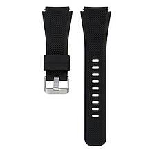Ремінець для годинника Silicone bracelet Універсальний Type B, 22 мм, Black