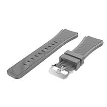 Ремінець для годинника Silicone bracelet Універсальний Type B, 22 мм., Gray