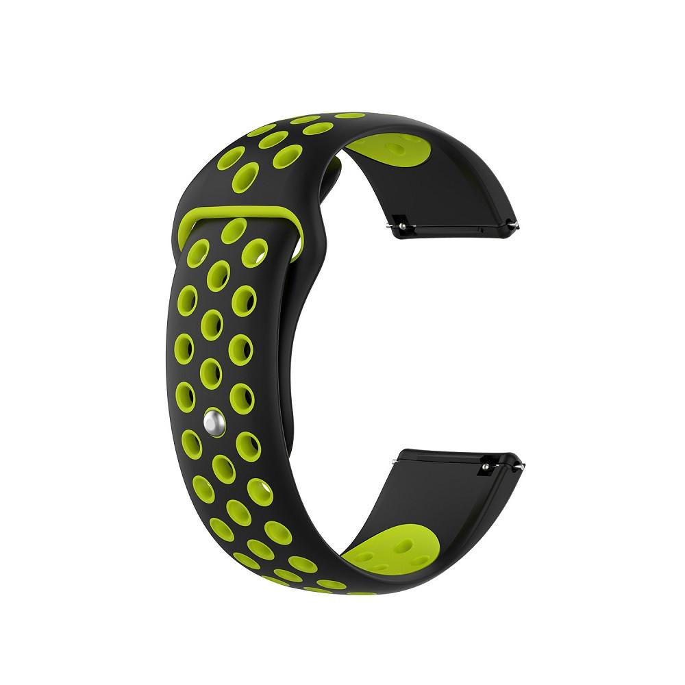 Ремінець для годинника Nike design bracelet Універсальний, 20 мм, Black with green
