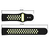Ремінець для годинника Nike design bracelet Універсальний, 20 мм, Black with green, фото 3