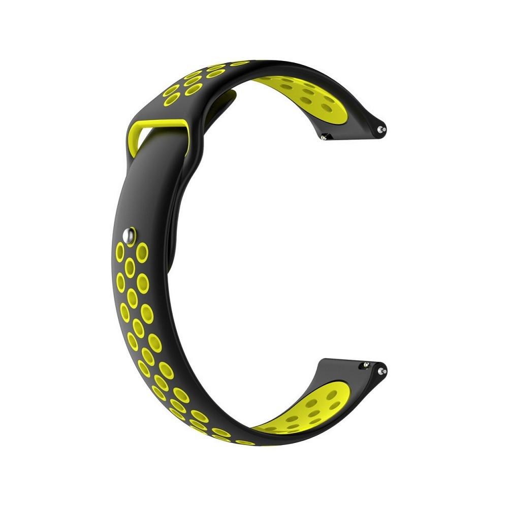 Ремінець для годинника Nike design bracelet Універсальний, 20 мм, Black with yellow