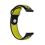 Ремінець для годинника Nike design bracelet Універсальний, 20 мм, Black with yellow, фото 2