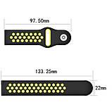Ремінець для годинника Nike design bracelet Універсальний, 20 мм, Black with yellow, фото 3