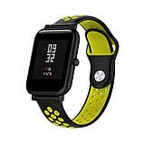 Ремінець для годинника Nike design bracelet Універсальний, 20 мм, Black with yellow, фото 4