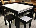 Стіл обідній Слайдер Венге/ АЛЯСКА, 100(+100)*82см, фото 5