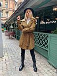 Женское утепленное пальто на запах под пояс в клетку (р. 42-46) 5802303, фото 6