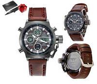 Мужские кварцевые армейские часы AMST / спортивные / тактические / наручные + Нож кредитка