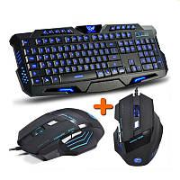 Комплект: Профессиональная игровая клавиатура M-200 с подсветкой + Геймерская оптическая мышь iMICE X7