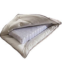 Ортопедическая Подушка для сна с внутренним пружинным блоком 50х70 чехол 100% хлопок Беж Homeline