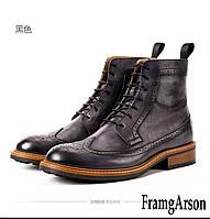 FRAMGARSON новые осенне-зимние высокие мужские кожаные ботинки Martin 2 цв