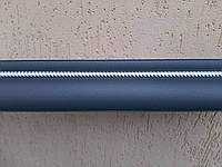 Карниз алюминиевый двойной  коса  КВАРЦ СЕРЫЙ -1,5м, фото 1