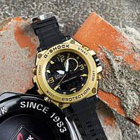 Мужские наручные спортивные часы Casio G-Shock GLG-1000 Black-Gold