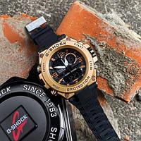 Мужские наручные спортивные часы Casio GLG-1000 Black-Cuprum