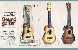 Детская акустическая пластиковая гитара на 6 струн (регулировка натяжения струн)